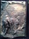 Барельеф «Памяти добровольцев» – Погибшим в первом бою за Донецкийаэропорт